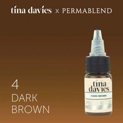 пигмент для перманентного макияжа Perma Blend Tina Davies Dark Brown