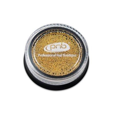 Бульонки для декора ногтей PNB Золото 0.6 мм