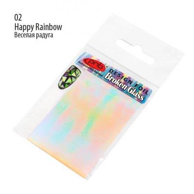 """Фольга """"Битое стекло"""" PNB 02 Happy Rainbow"""