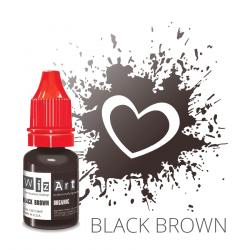 "BLACK BROWN пигмент для ПМ бровей, ""Wizart"" organic 10ml"