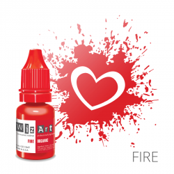 "FIRE пигмент для ПМ губ, ""Wizart"" organic 10ml"