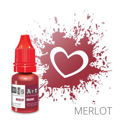 "MERLOT пигмент для ПМ губ, ""Wizart"" organic 10ml"