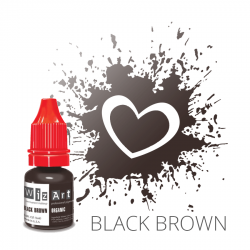 Пигмент для татуажа  WizArt Organic Black Brown 5 мл