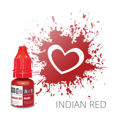 "INDIAN RED пигмент для ПМ губ, ""Wizart"" organic 5ml"