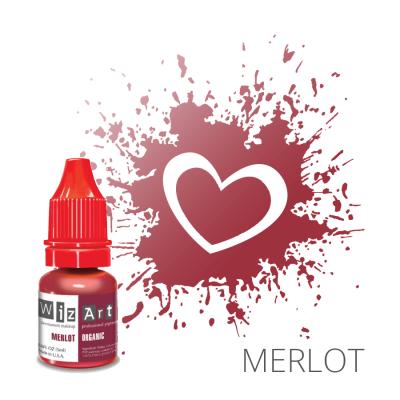 "MERLOT пигмент для ПМ губ, ""Wizart"" organic 5ml"