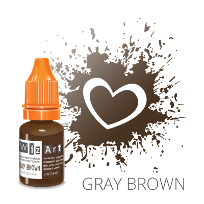 "Gray Brown, пигмент для ПМ бровей, ""Wizart"" 10ml"