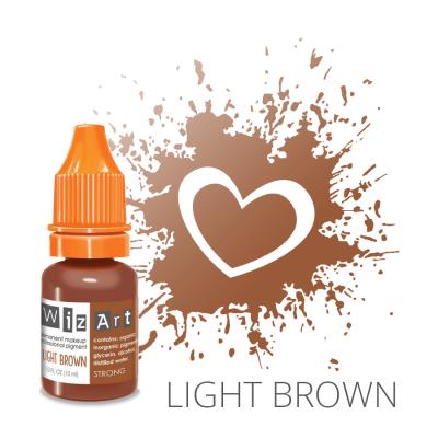 "Light Brown, пигмент для ПМ бровей, ""Wizart"" 10ml"