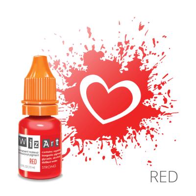 "Red, пигмент для ПМ губ, ""Wizart"" 10ml"