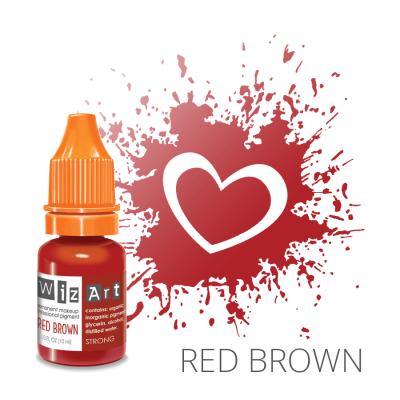"Red Brown, пигмент для ПМ губ, ""Wizart"" 10ml"