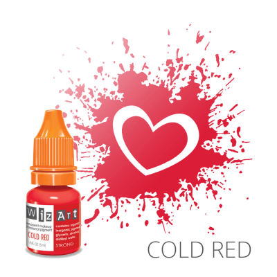 "Cold Red, пигмент для ПМ губ, ""Wizart"" 5ml"