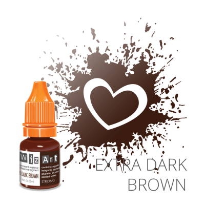"Extra Dark Brown, пигмент для ПМ бровей, ""Wizart"" 5ml"