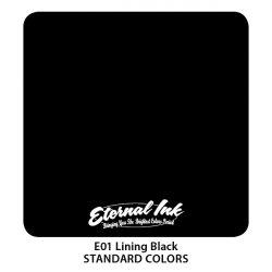 Тату краска Eternal Ink (E01) Lining Black 15 мл