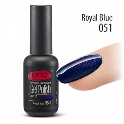 Гель-лак PNB 051 8 мл Royal Blue