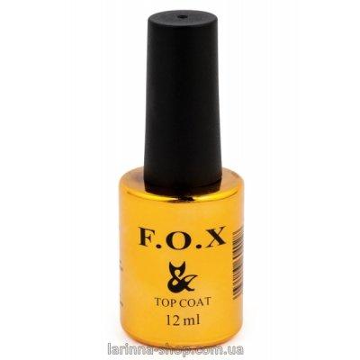 Топовое покрытие для ногтей F.O.X Top No wipe, 12 мл